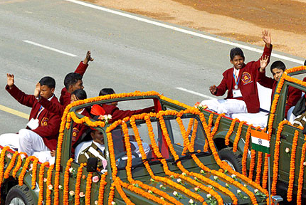 Brave Children of India on 26-Jan-2012 at Rajpath