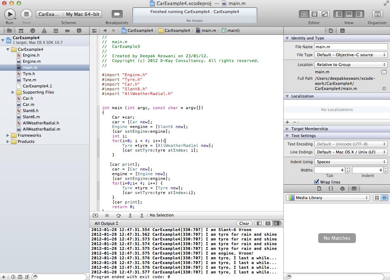 Xcode 4.2 screenshot