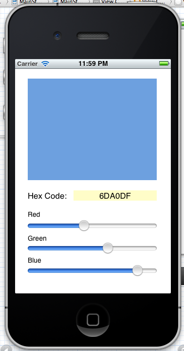 Simple Color Picker App