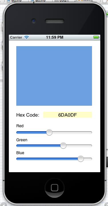 Simple Color Picker App