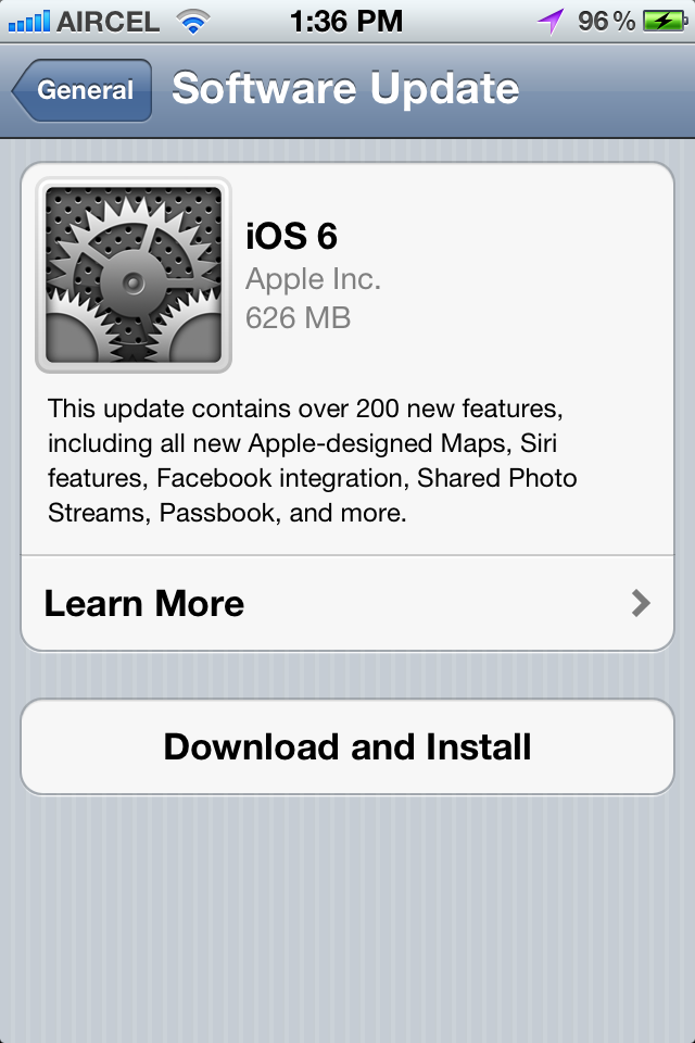Apple iOS 6 for iPhone 4s