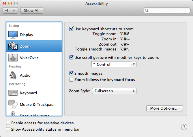 Mouse Zoom Settings in Mountain Lion