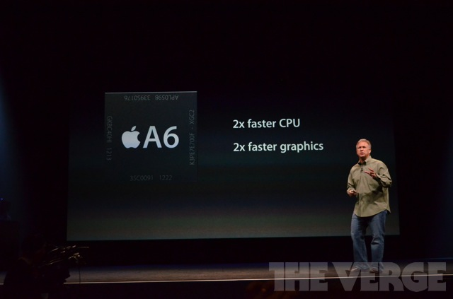 iPhone 5 comes with A6 chipset