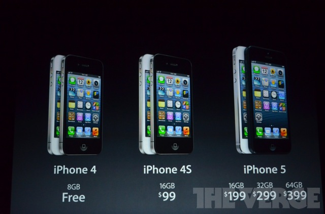 iPhone 5, iPhone 4s & iPhone 4 rates in USA