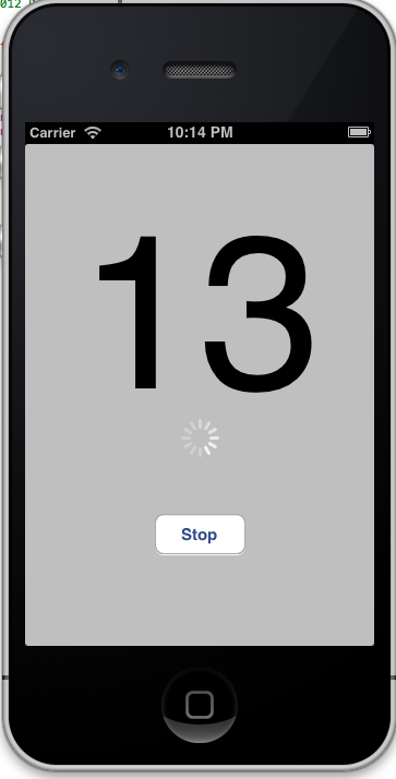 Activity Indicator with Thread Example