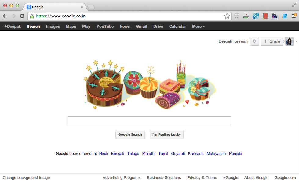 Google Doodle For my Birthday