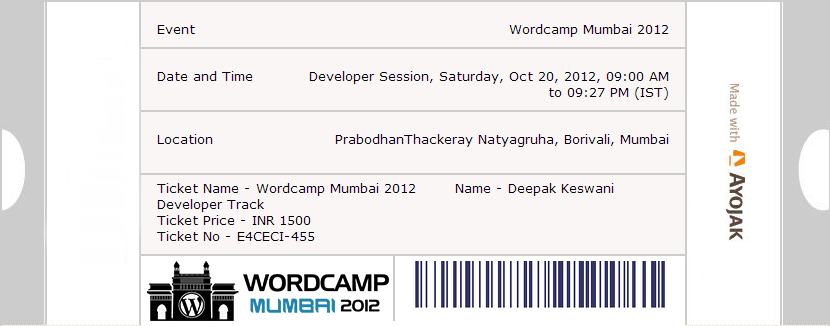 WordCamp 2012 Mumbai by Ayojak