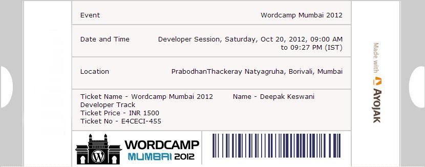 WordCamp 2012 Mumbai by Ayojak