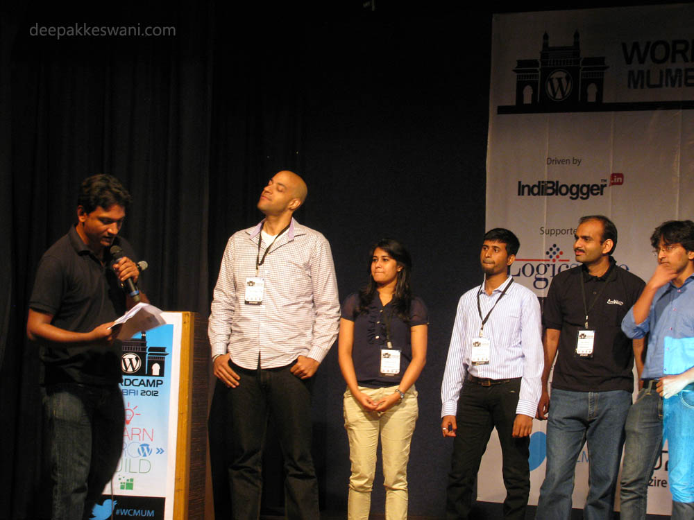 WordCamp Mumbai 2012 Speakers On Stage