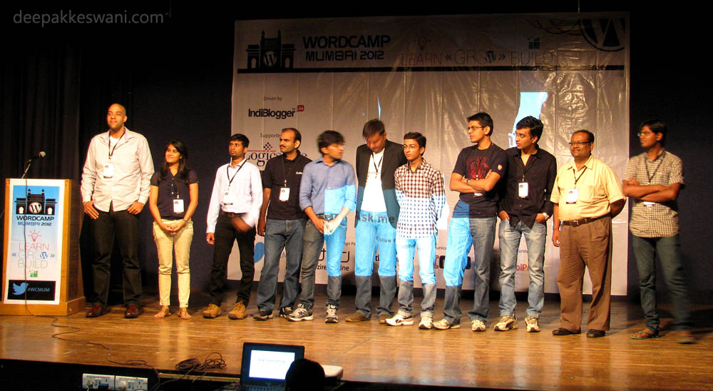 WordCamp Mumbai 2012 Speakers On Stage