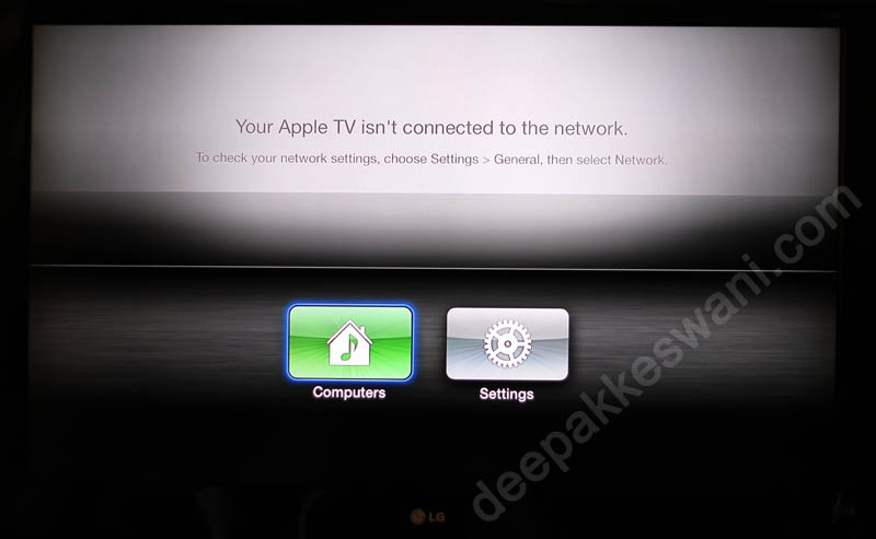 Apple TV Computers And Setting Menu