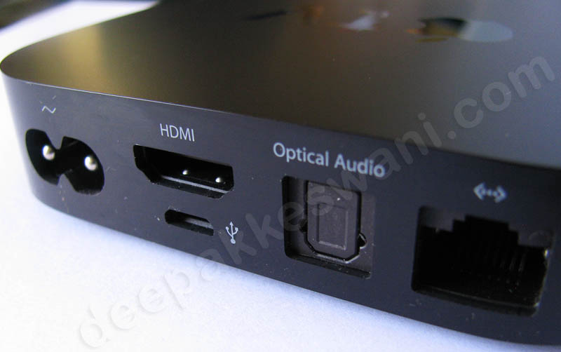 Apple TV India Ports on back side