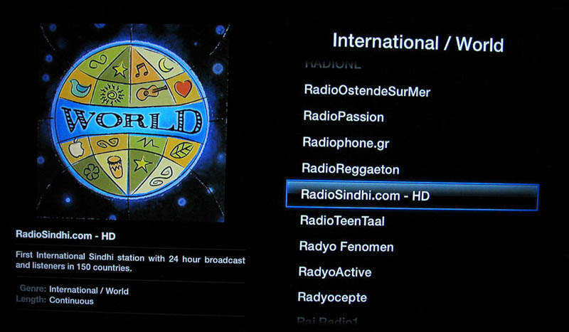 Playing International Radio Stream on Apple TV India