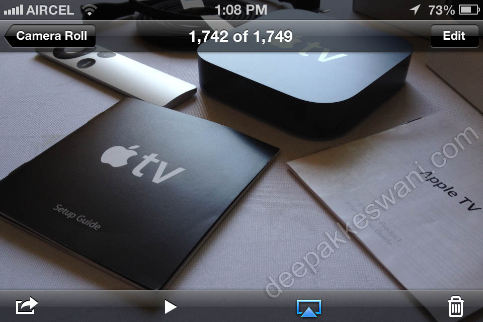 AppleTV Airplay Button on iPhone
