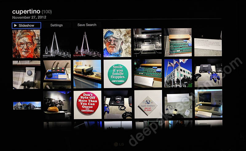 Apple TV Flickr Photo Search Results