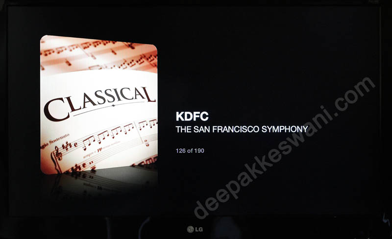 Apple TV Internet Radio KDFC classical