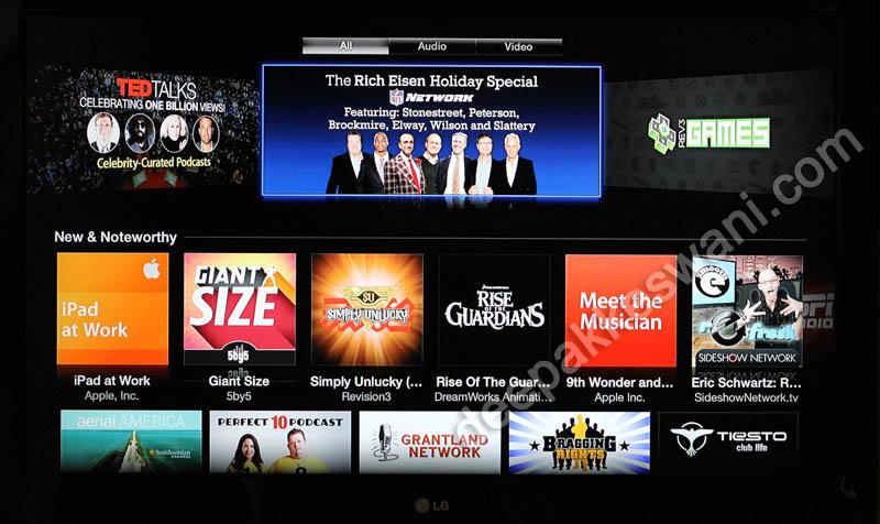 Apple TV Top Podcast List
