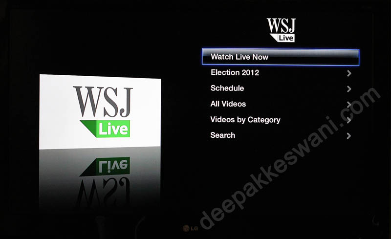 Apple TV WSJ Live