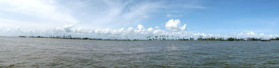 360 degree panorama view of Alleppey Backwaters, Kerala, India
