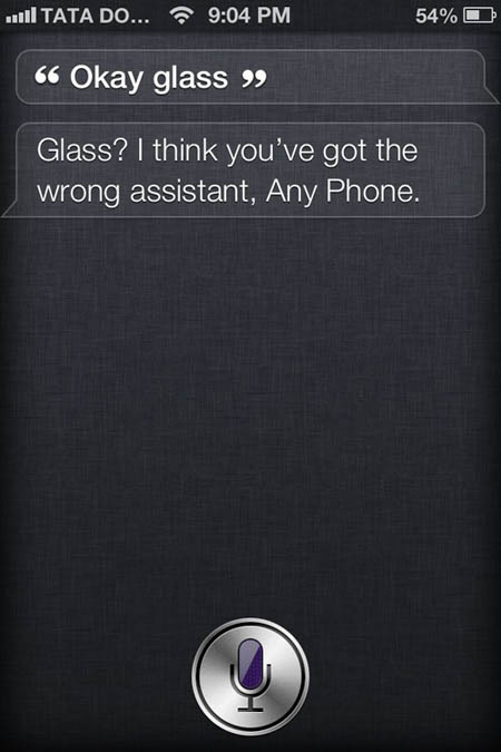 SIRI Response to Glass 1
