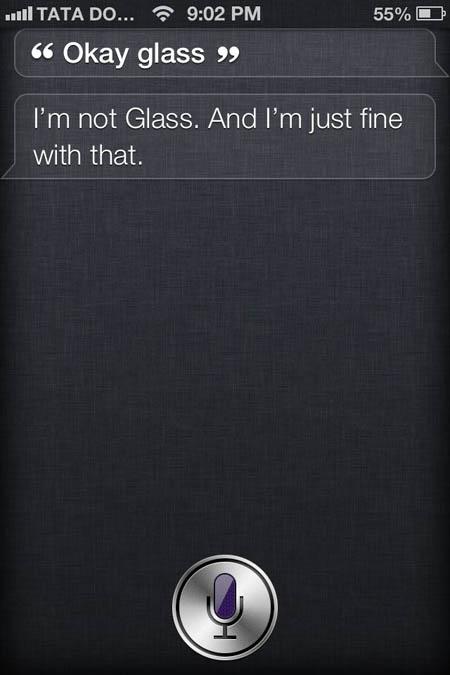 SIRI Response to Glass 4