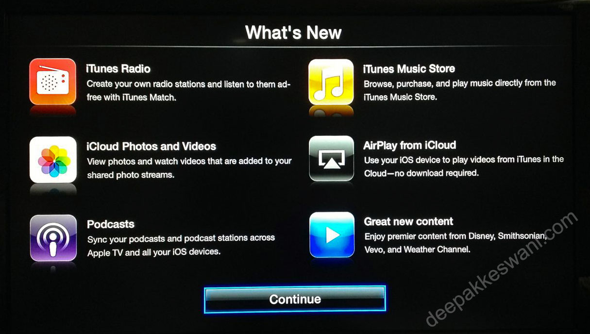 Apple TV version 6 new Apps