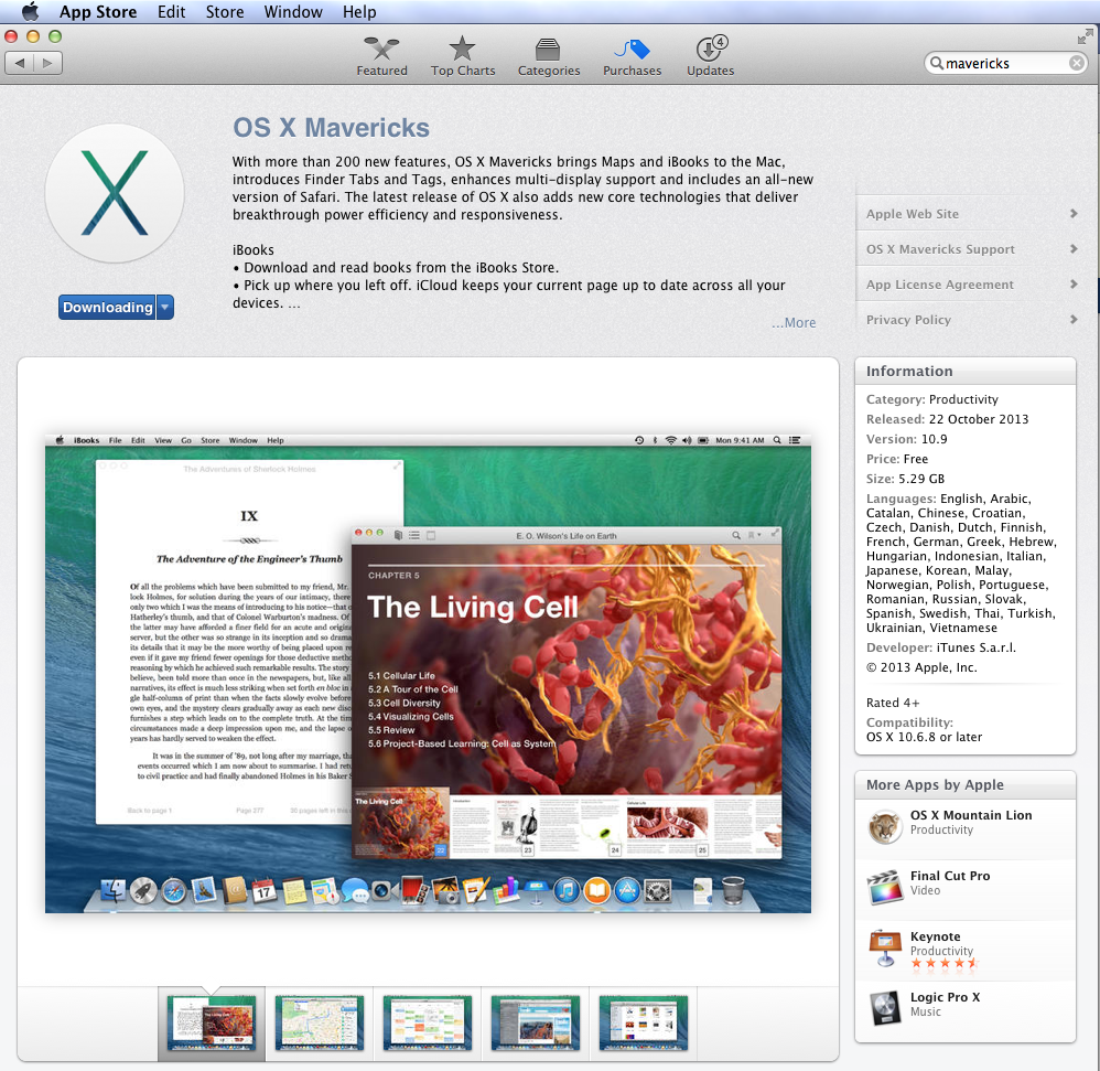 Apple OSX Mavericks