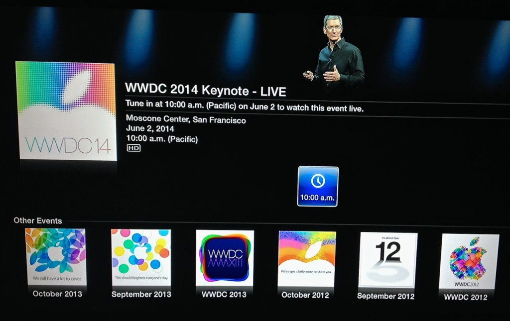 WWDC 2004 Keynote Live Apple TV
