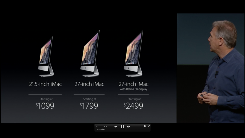 New iMac 27 inch 5K display