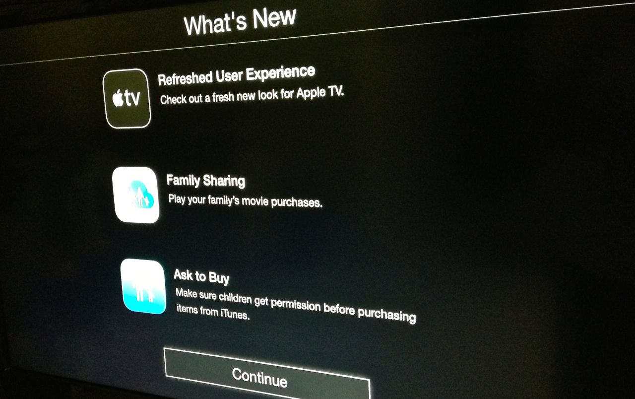 New Apple TV update