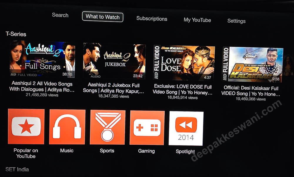 Apple TV updates Youtube new options