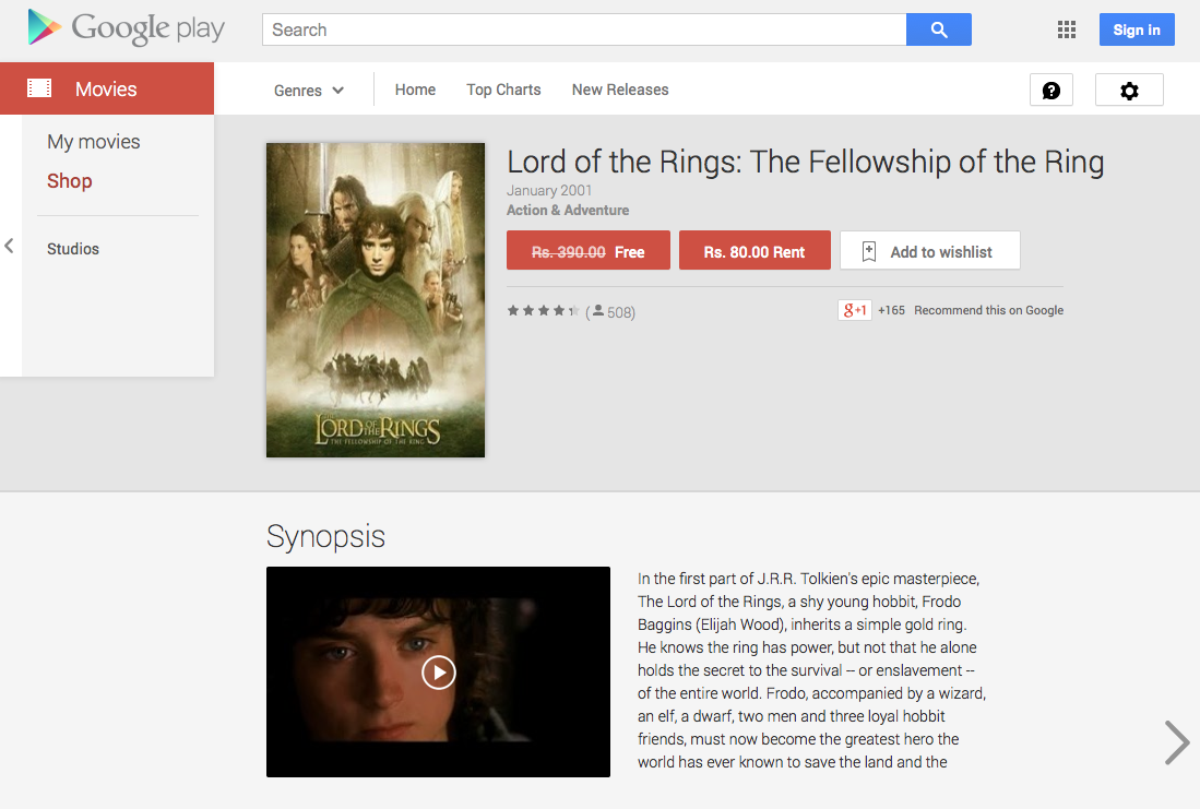 Free Movie India Lord of the Rings