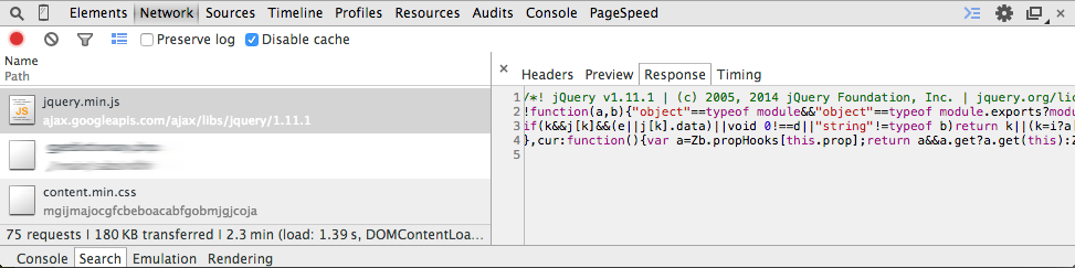 JQuery issue fixed with google link