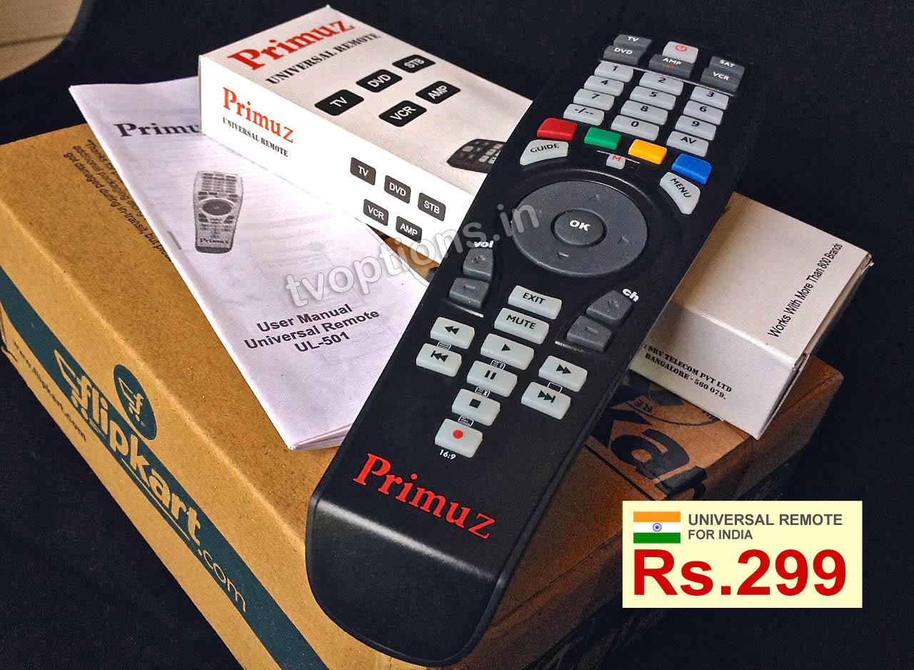 Primuz Universal Remote For Indian TV, Set Top Boxes