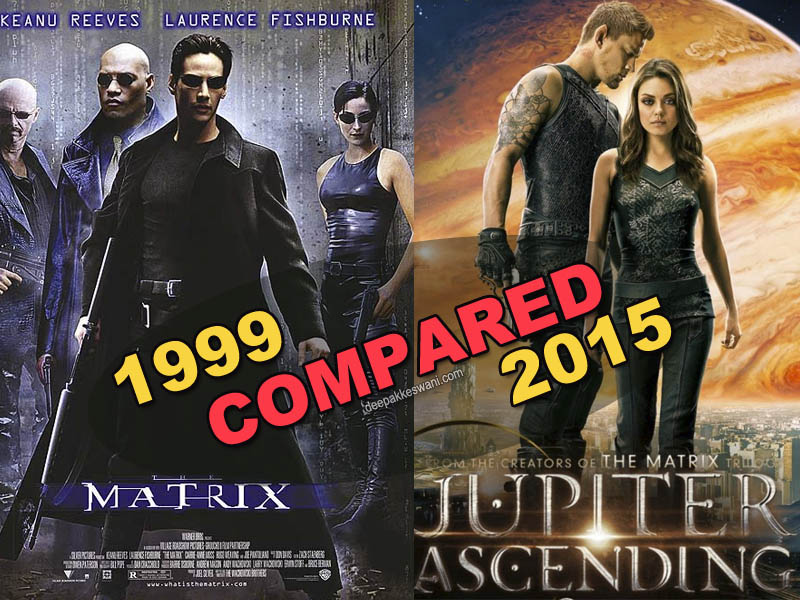 Matrix and Jupiter Ascending Movies compared