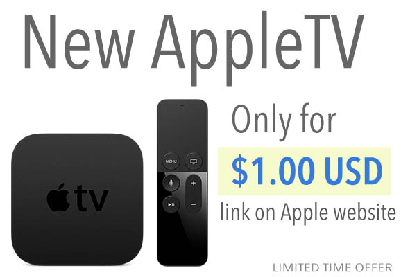 New Apple TV for $1 USD