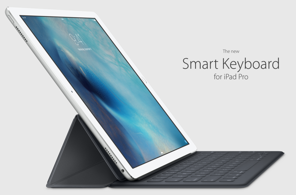new Apple iPad Pro-with smart keyboard