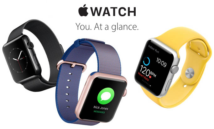 Apple Watch with new bands