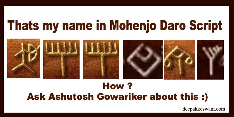 name in mohenjo daro script