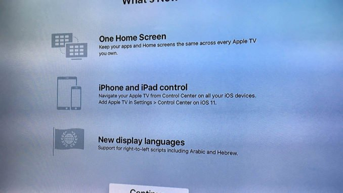 What's new in Apple tvOS 11