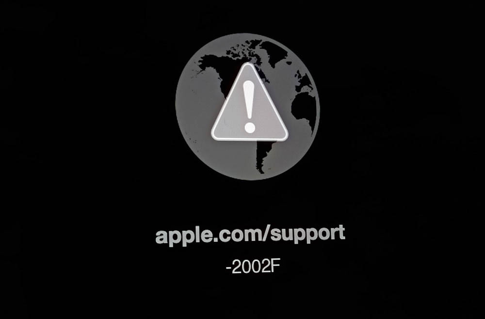 apple.com/support -2002F error